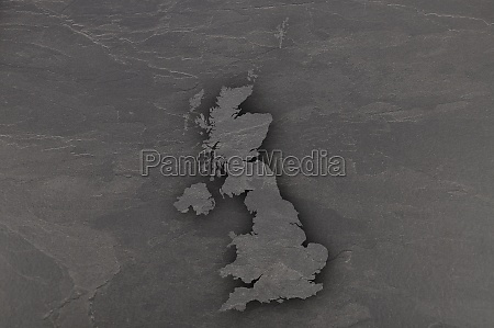 map of great britain on dark