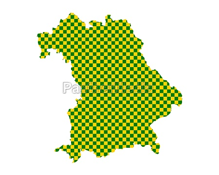 map of bavaria in checkerboard pattern