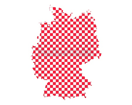 map of germany in checkerboard pattern