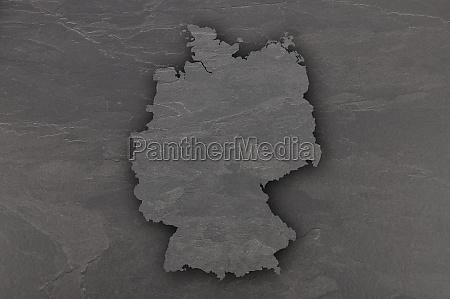 map of germany on dark slate
