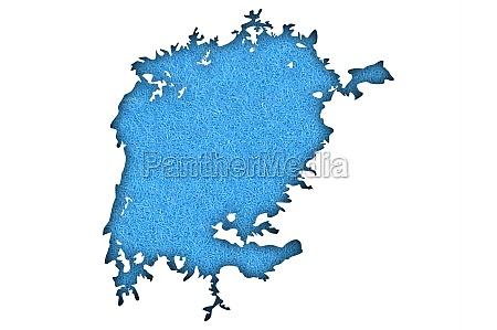 map lake victoria on blue felt