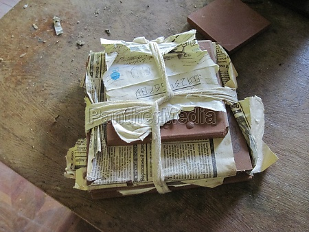 old paper archives of abandoned power