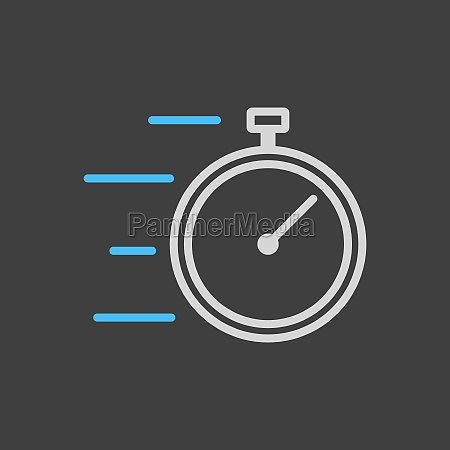 stopwatch with speed icon