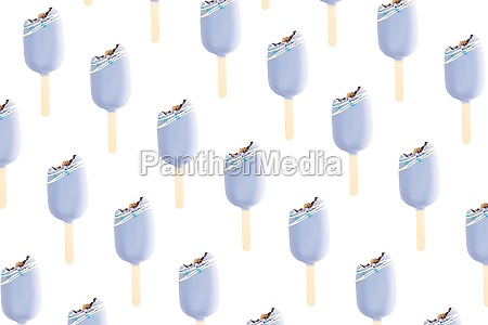 bitten blue cookie ice creams on