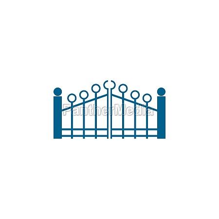 gate icon logo flat design vector