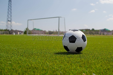 soccer ball on the stadium with