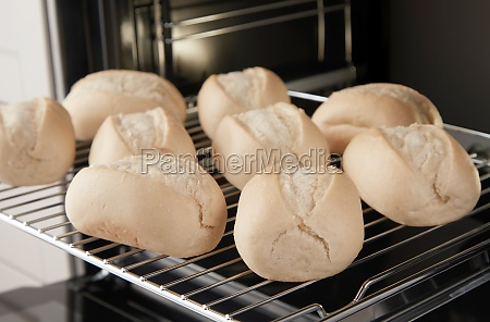 set of unbaked bread roll buns