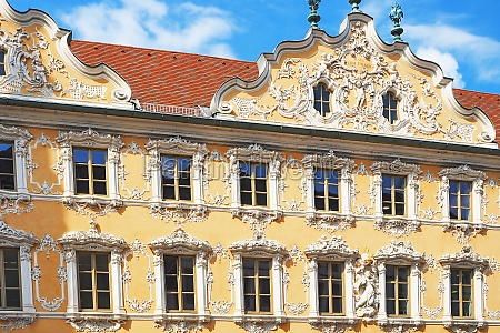 the falkenhaus with its striking baroque