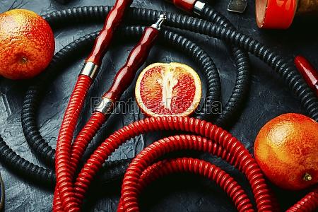 shisha hookah with orange