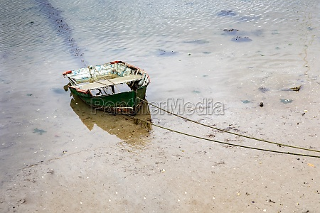 old fishing boat moored
