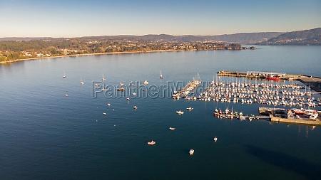 aerial view spanish village