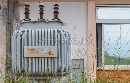 electricity transformer in abandoned house