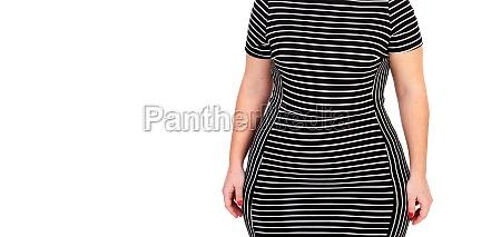 sensual curvy girl with black dress