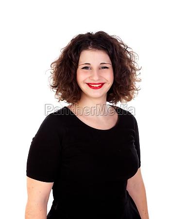 portrait of a beautiful curvy girl