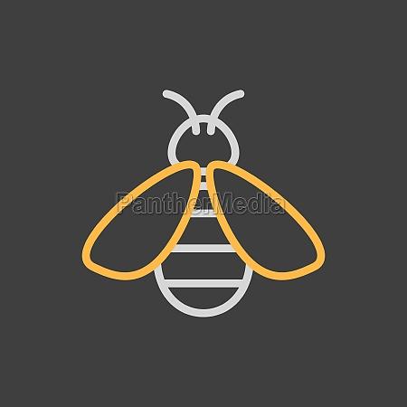 honey bee vector flat icon farm