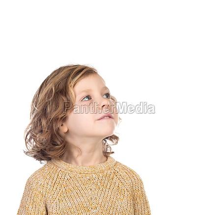 pensive cute child