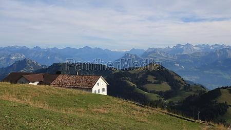 rural mountain landscape in central switzerland