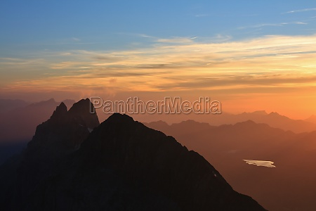 wendenstocke at sunset view from the