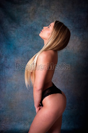 sensual girl with long blond hair