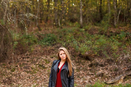 beautiful woman in a beautiful forest