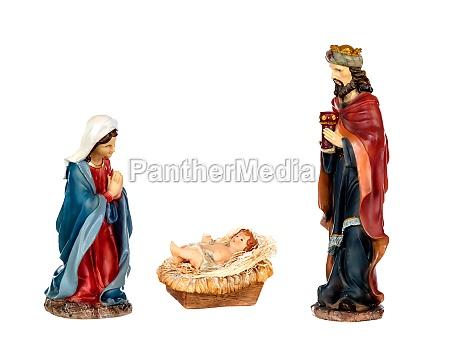 scene of the nativity mary baby
