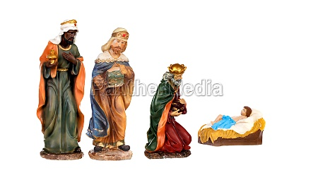 three wise kings and baby jesus