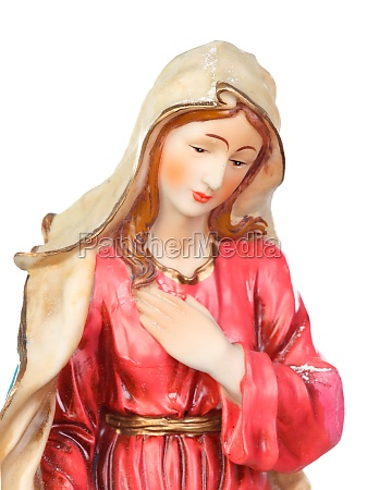 ceramic figure of the virgin mary