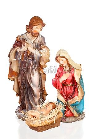 scene of the nativity mary joseph