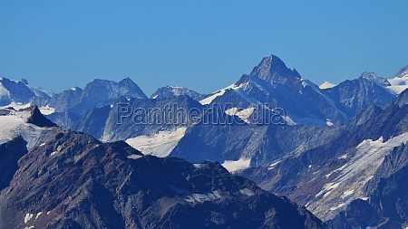 rugged mountains in the swiss alps