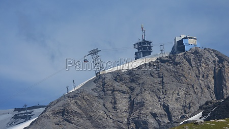 summit of mt titlis and cable
