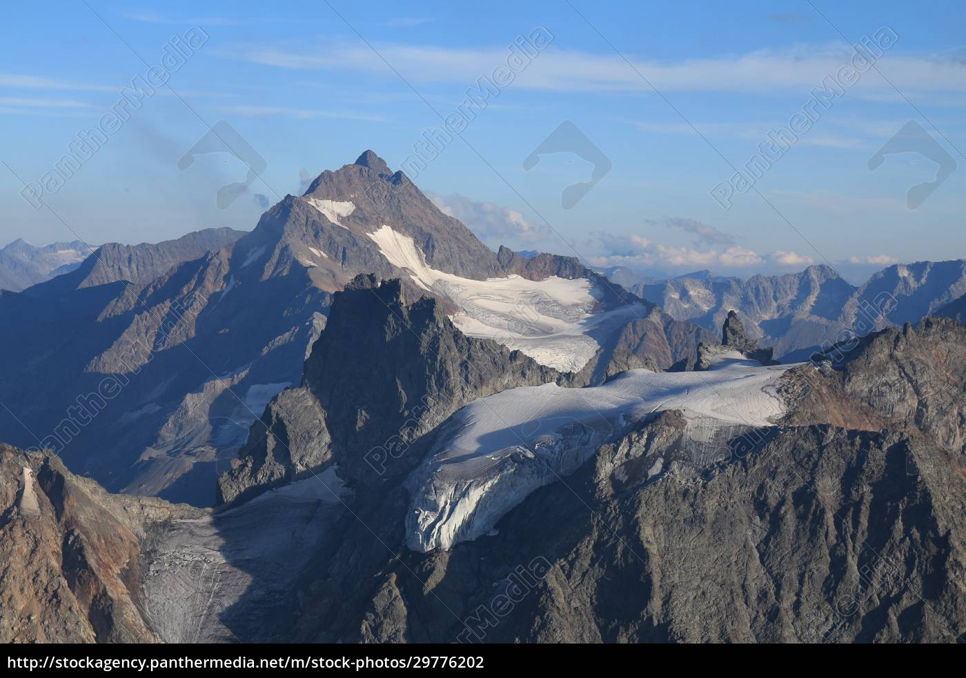 beautiful, shaped, mountain, with, glacier, in - 29776202