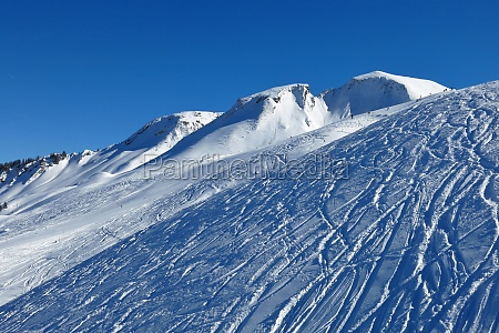 winter landscape in stoos ski area