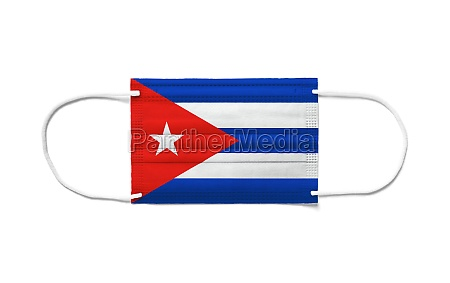 flag of cuba on a disposable