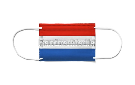 flag of netherlands on a disposable