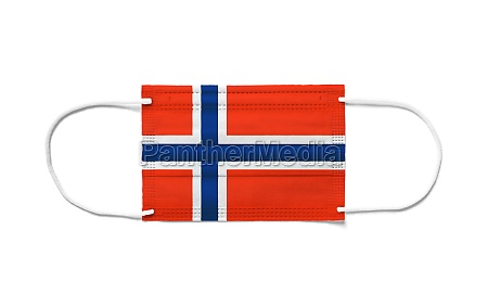 flag of norway on a disposable