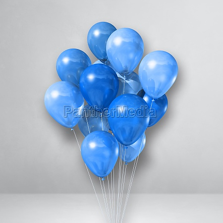 blue balloons bunch on a white