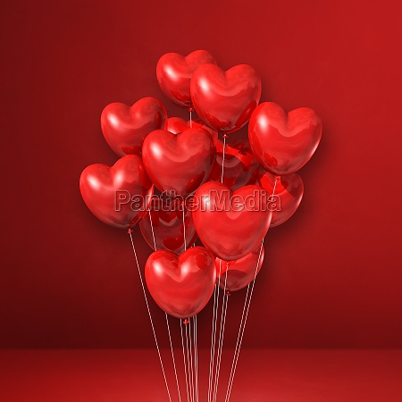 heart shape balloons bunch on a