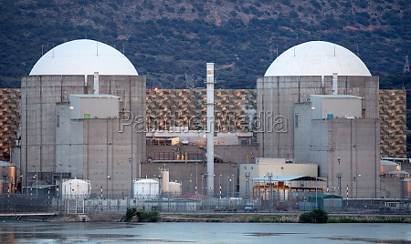 nuclear power plant in the center