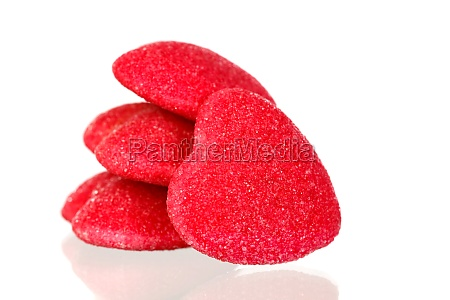 red jelly hearts
