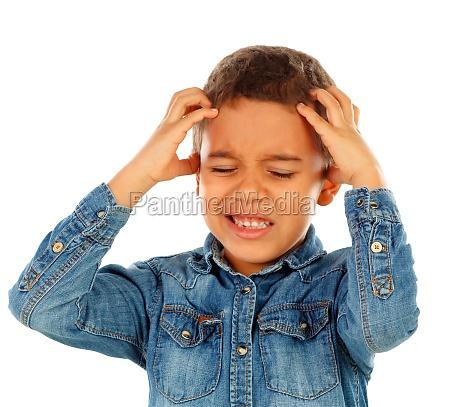 latin kid with headache