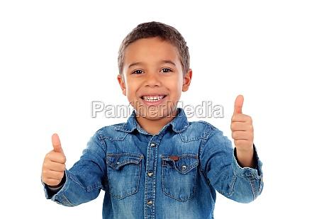 funny small child saying ok