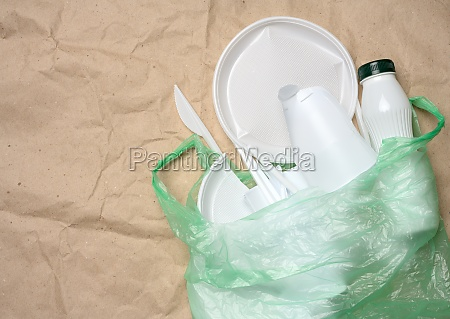 plastic waste from life on the