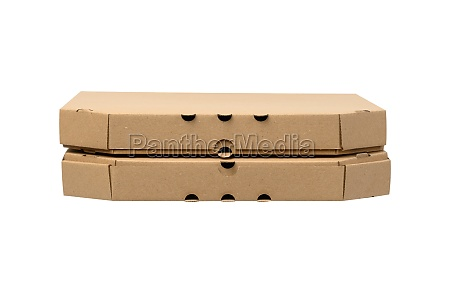 cardboard brown square box isolated on