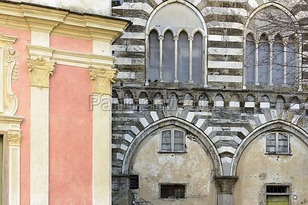 facades ligurian style lavagna italy