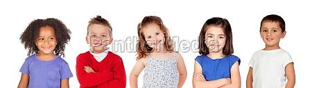 five different children