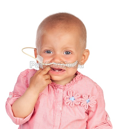 adorable baby beating the disease