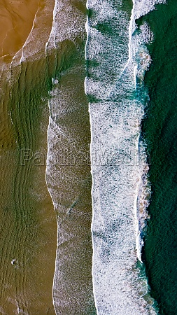 beautiful aerial view of a beach