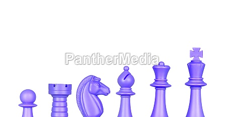 chess blue figures