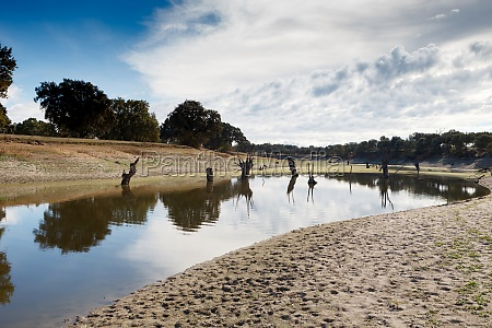 lagoon almost empty due to drought