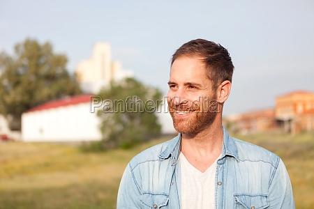 attractive pensive guy